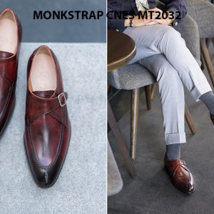 Giày tây nam cao cấp Monkstrap CNES MT2033 002