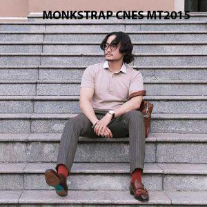 Giày da nam xỏ khóa Monkstrap CNES MT2015 004