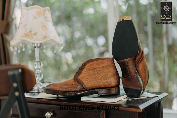 Giày tây nam cổ lửng Chukka Boot CNES BT2043 005