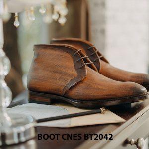 Giày tây nam cổ lửng Chukka Boot CNES BT2043 001