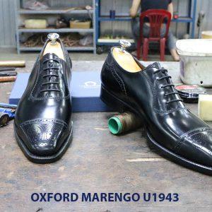 Giày da nam màu đen Oxford Marengo U1943 006