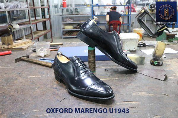 Giày da nam màu đen Oxford Marengo U1943 005