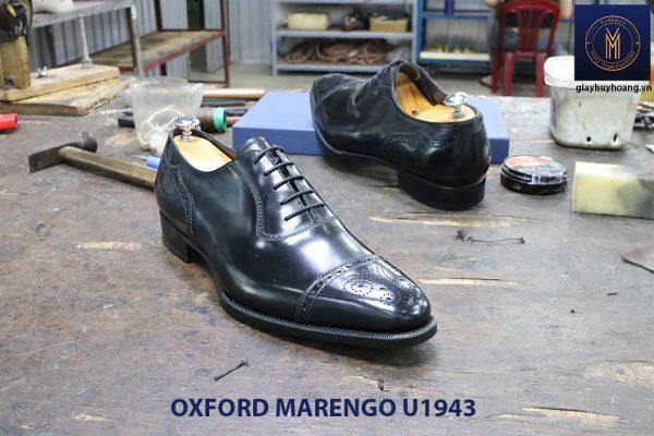 Giày da nam màu đen Oxford Marengo U1943 004