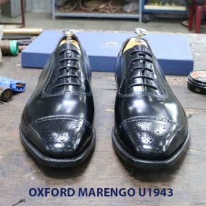 Giày da nam màu đen Oxford Marengo U1943 001