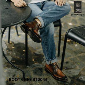 Giày da nam chính hãng Chukka Boot CNES BT2044 004