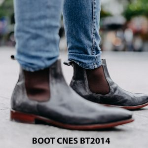 Giày tây nam cổ cao Chelsea Boot CNES BT2014 001