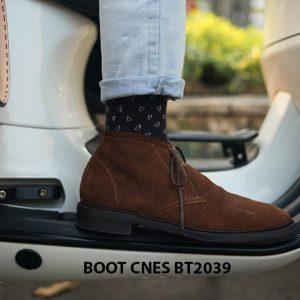 Giày da nam cổ lửng Chukka Boot CNES BT2039 007