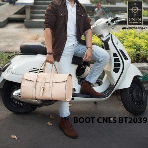 Giày da nam cổ lửng Chukka Boot CNES BT2039 006