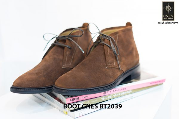 Giày da nam cổ lửng Chukka Boot CNES BT2039 005