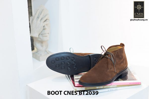 Giày da nam cổ lửng Chukka Boot CNES BT2039 003