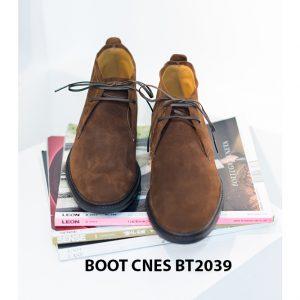 Giày da nam cổ lửng Chukka Boot CNES BT2039 001