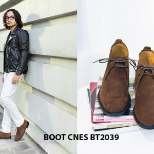 Giày da nam cổ lửng Chukka Boot CNES BT2039 002