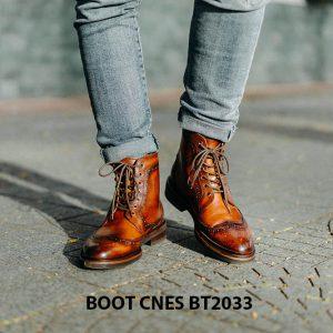 Giày cột dây đẹp Boot CNES BT2034 001