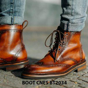 Giày cột dây đẹp Boot CNES BT2034 002