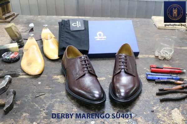 [Outlet size 39+43] Giày da dập vân Derby Marengo SU401 007