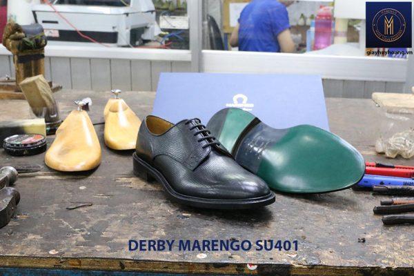 [Outlet size 39+43] Giày da dập vân Derby Marengo SU401 004