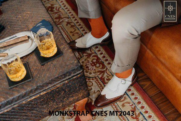 Giày da nam đế cao Monkstrap CNES MT2043 001