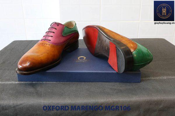 [Outlet Size 41] Giày da nam Saddle Oxford Marengo MGR106 006