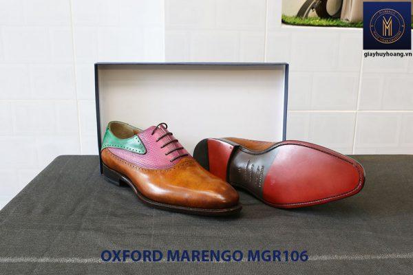 [Outlet Size 41] Giày da nam Saddle Oxford Marengo MGR106 003
