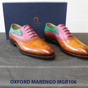 [Outlet Size 41] Giày da nam Saddle Oxford Marengo MGR106 001