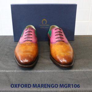 [Outlet Size 41] Giày da nam Saddle Oxford Marengo MGR106 002