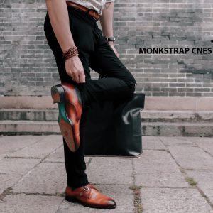 Giày tây nam cao cấp Monkstrap CNES MT2026 006