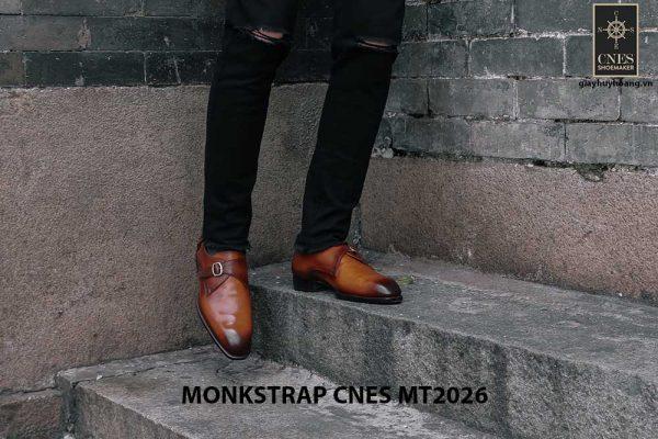 Giày tây nam cao cấp Monkstrap CNES MT2026 001
