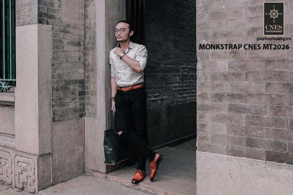 Giày tây nam cao cấp Monkstrap CNES MT2026 003