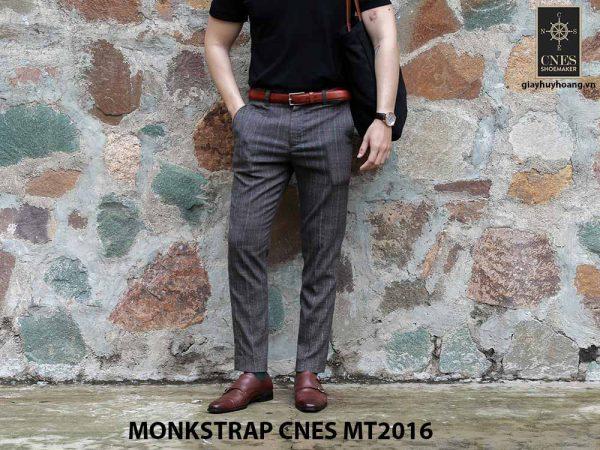 Giày da nam hai khóa Monkstrap CNES MT2016 005