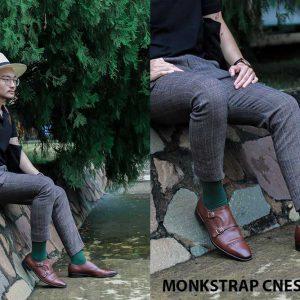 Giày da nam hai khóa Monkstrap CNES MT2016 002