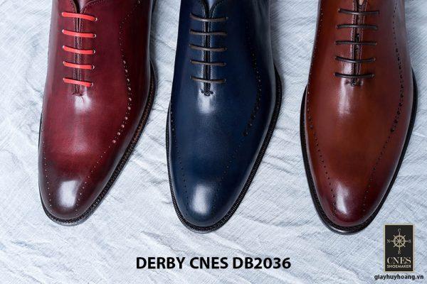 Giày da nam da bê đẹp Derby CNES DB2036 008