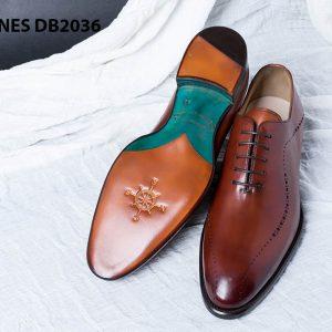 Giày da nam da bê đẹp Derby CNES DB2036 007