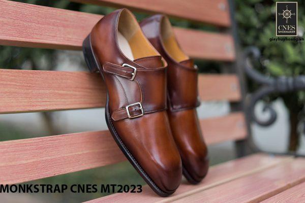 Giày da nam không dây Monkstrap CNES MT2023 003