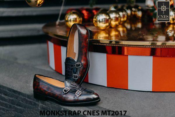 Giày tây nam Double Monkstrap CNES MT2017 002