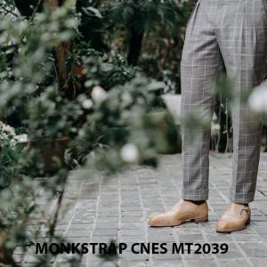 Giày da nam Single Monkstrap CNES MT2039 008