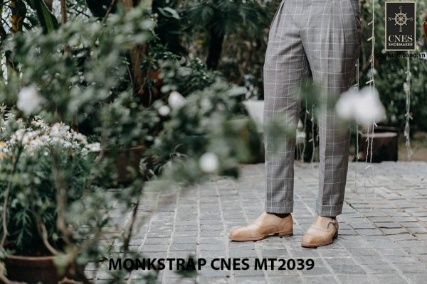 Giày da nam Single Monkstrap CNES MT2039 008