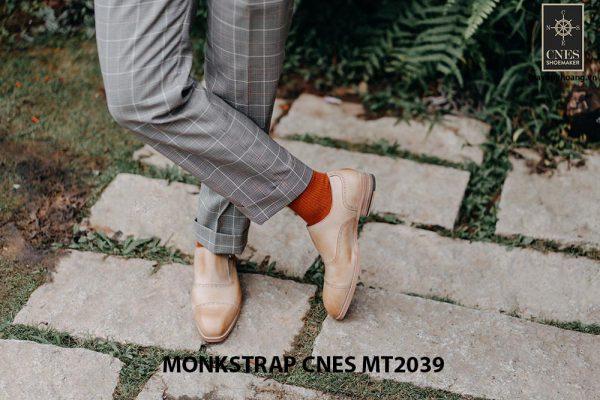 Giày da nam Single Monkstrap CNES MT2039 006
