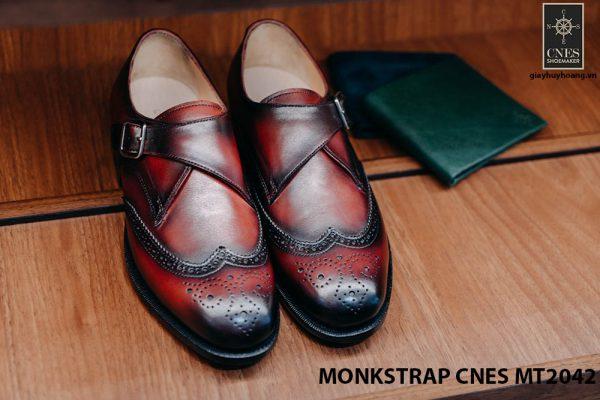 Giày da nam hàng hiệu Monkstrap CNES MT2042 001