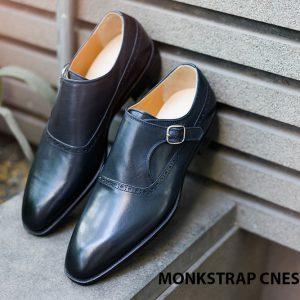 Giày da nam cao cấp Monkstrap CNES MT2040 001