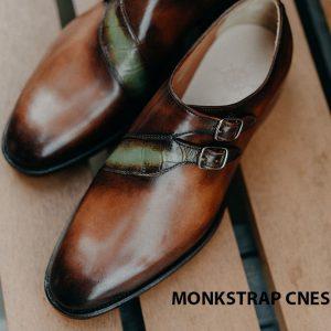 Giày tây nam không dây Monkstrap CNES MT2048 006