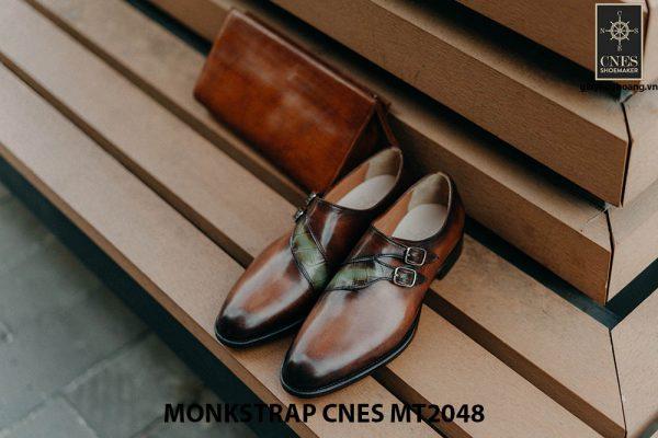 Giày tây nam không dây Monkstrap CNES MT2048 002