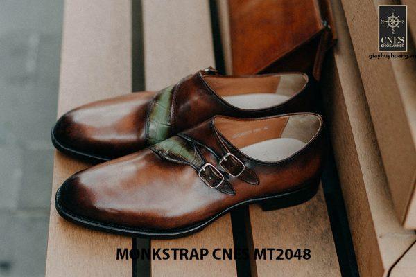 Giày tây nam không dây Monkstrap CNES MT2048 001