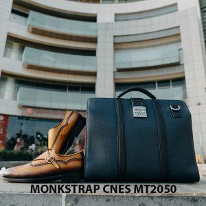 Giày da nam da bê Monkstrap CNES MT2050 009