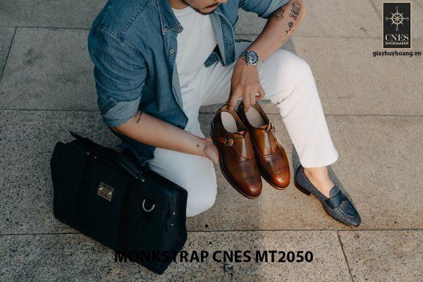 Giày da nam da bê Monkstrap CNES MT2050 007