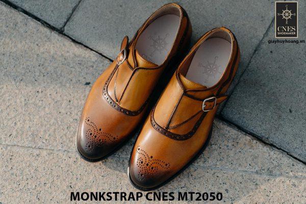 Giày da nam da bê Monkstrap CNES MT2050 006