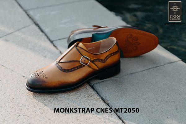 Giày da nam da bê Monkstrap CNES MT2050 005