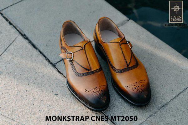 Giày da nam da bê Monkstrap CNES MT2050 004