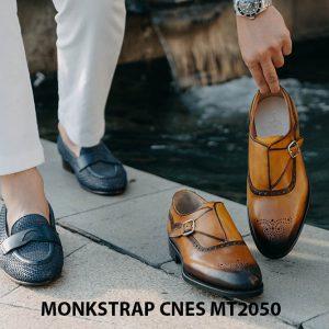 Giày da nam da bê Monkstrap CNES MT2050 003