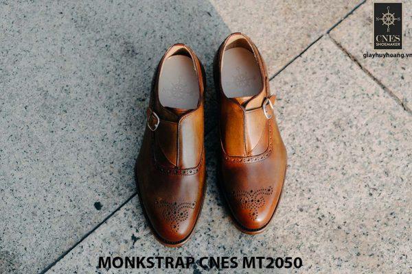 Giày da nam da bê Monkstrap CNES MT2050 001