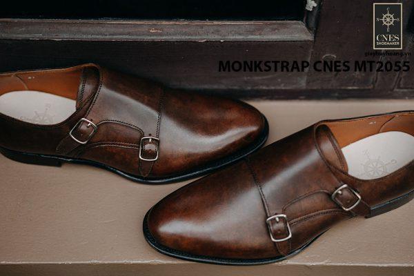 Giày tây nam da bê Monkstrap CNES MT2055 001